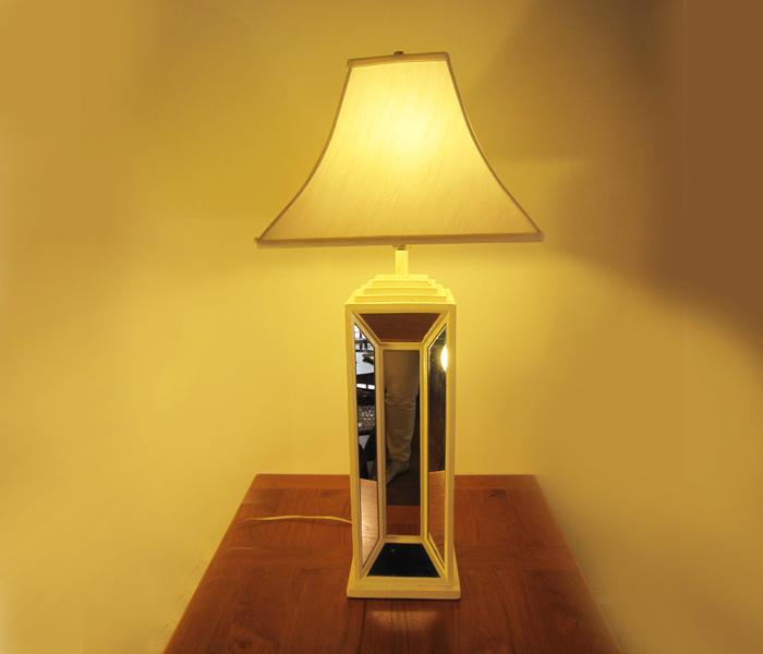 Vintage Mirrored Table Lamp