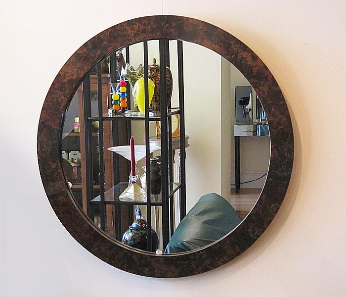 Large round midcentury mirror for Big round mirror